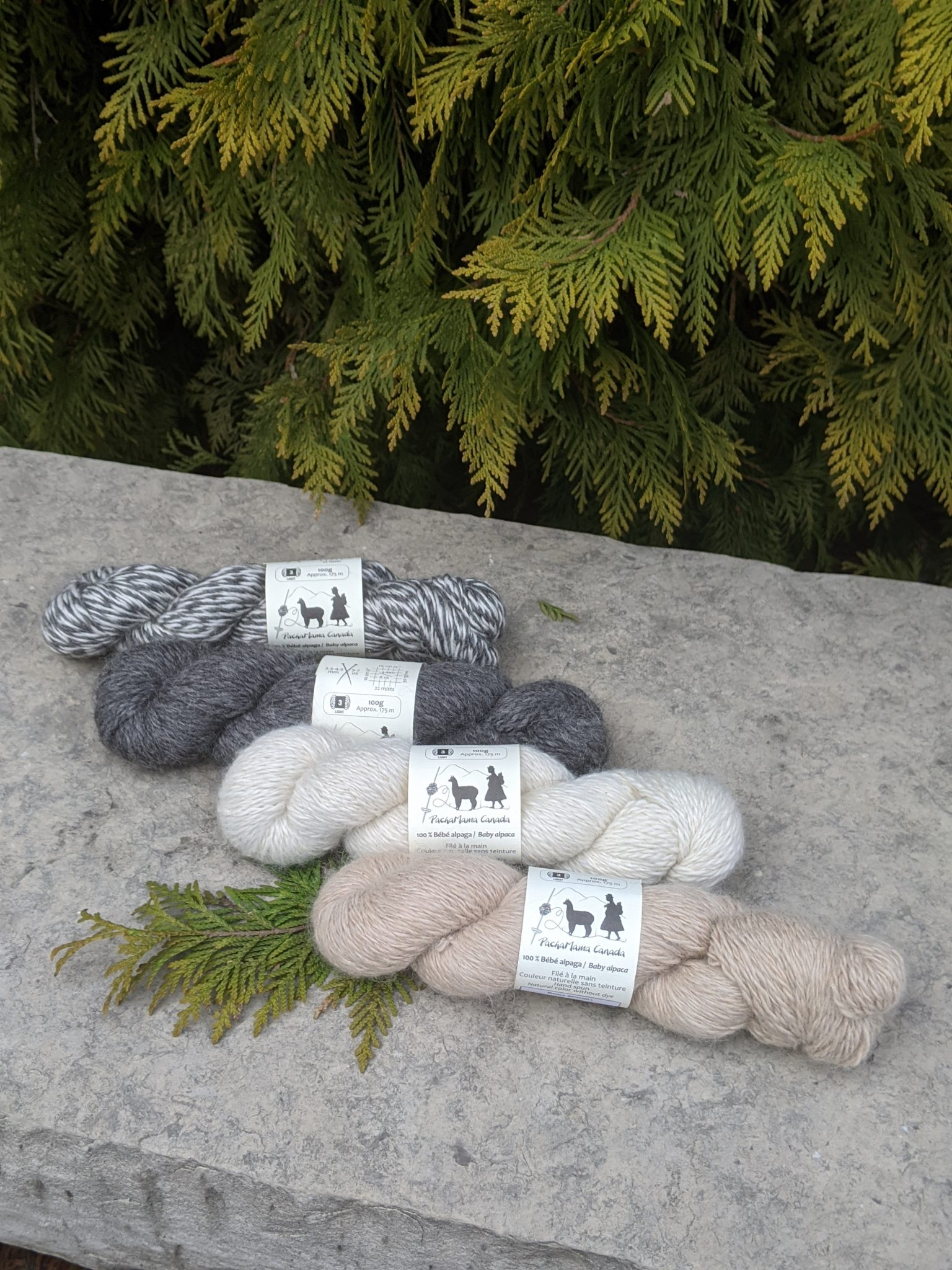 balles de laine en alpaga
