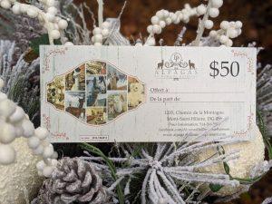 Carte-cadeau de 50 $